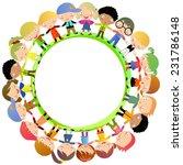 group of kids hand around | Shutterstock .eps vector #231786148