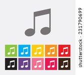 note icon   vector    Shutterstock .eps vector #231790699