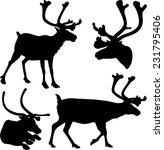 reindeer   vector silhouettes... | Shutterstock .eps vector #231795406