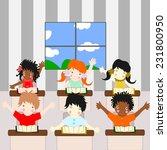 children of different races... | Shutterstock . vector #231800950
