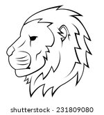 lion head tattoo illustration   Shutterstock .eps vector #231809080