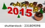 christmas balls and christmas... | Shutterstock . vector #231809098