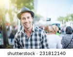 portrait of a trendy young man... | Shutterstock . vector #231812140