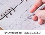silver pen writing on open... | Shutterstock . vector #231822160