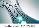 training and development on the ... | Shutterstock . vector #231822460