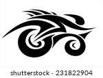 abstract cyclist in tattoo... | Shutterstock .eps vector #231822904