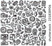 web social media  devices  ... | Shutterstock .eps vector #231838906