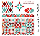 abstract geometric set of... | Shutterstock .eps vector #231840010