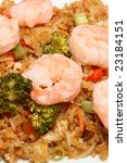 asian shrimp fried rice with...