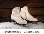 Pair Of White Ice Skates For...