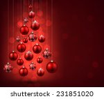 Christmas Tree With Red...