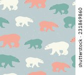 bear seamless patterns with... | Shutterstock .eps vector #231869860