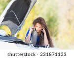 girl talking on the phone in a... | Shutterstock . vector #231871123