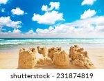 Destroyed Sand Castle On A...