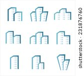 vector city buildings... | Shutterstock .eps vector #231876760