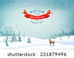 winter christmas landscape... | Shutterstock .eps vector #231879496