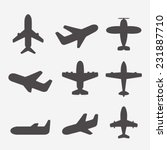 airplane icons vector | Shutterstock .eps vector #231887710