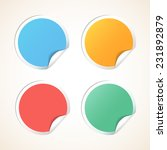 vector circle stickers with... | Shutterstock .eps vector #231892879