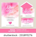 vector set of invitation cards... | Shutterstock .eps vector #231895276