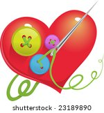 buttons are linked to heart | Shutterstock .eps vector #23189890