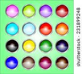 16 color web buttons | Shutterstock .eps vector #231899248