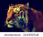 Low Poly Design. Tiger...