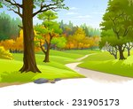 pathway through a blissful... | Shutterstock .eps vector #231905173