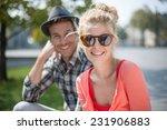portrait of a modern couple in... | Shutterstock . vector #231906883
