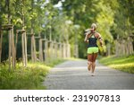 young lady running. woman... | Shutterstock . vector #231907813