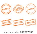 easter stamps | Shutterstock .eps vector #231917638