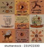 retro collection of coffee... | Shutterstock .eps vector #231922330