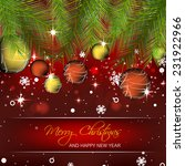 christmas vector background...   Shutterstock .eps vector #231922966