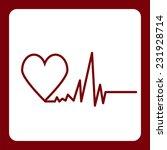 icon flat  element design heart ... | Shutterstock .eps vector #231928714