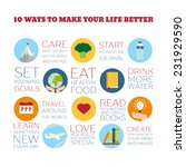 flat style infographics. 10... | Shutterstock .eps vector #231929590