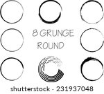 set of vector grunge circle... | Shutterstock .eps vector #231937048