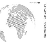 vector abstract dotted globe ... | Shutterstock .eps vector #231939814