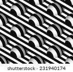 striped 3d hemisphere hills...