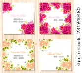 wedding invitation cards with... | Shutterstock .eps vector #231940480