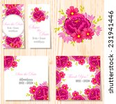 wedding invitation cards with... | Shutterstock .eps vector #231941446