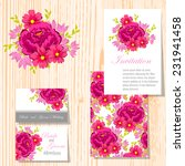 wedding invitation cards with... | Shutterstock .eps vector #231941458