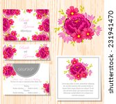 wedding invitation cards with... | Shutterstock .eps vector #231941470
