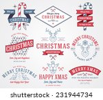 vector christmas badges and... | Shutterstock .eps vector #231944734