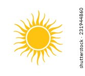 sun icon vector | Shutterstock .eps vector #231944860