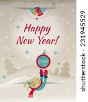 2015 happy new year greeting... | Shutterstock .eps vector #231945529