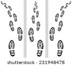 trail of prints shoes with turn ... | Shutterstock .eps vector #231948478