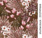 flowers seamless pattern | Shutterstock . vector #231949666