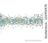 an abstract pixel art style... | Shutterstock .eps vector #231954970