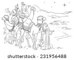 Three Wise Men Following The...