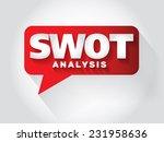 swot analysis message bubble ... | Shutterstock .eps vector #231958636