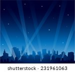 party city at night background | Shutterstock .eps vector #231961063